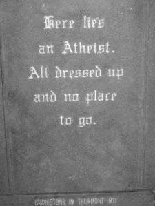 an atheist's tomb