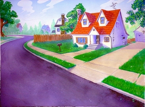 cartoon home