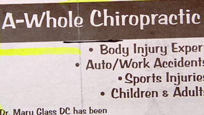 classified ad a whole chiropractic