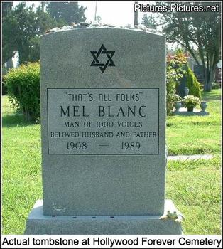headstone Mel Blanc - That's All Folks