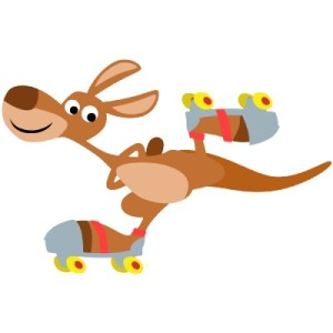 cartoon_skating_kangaroo