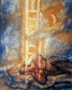 Artistic impression of Jacob's Ladder