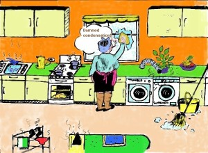 Kitchen cartoon