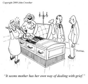 Cartoon funeral