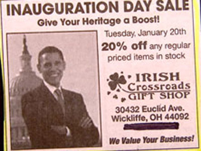 classified ad ObamainIrishad
