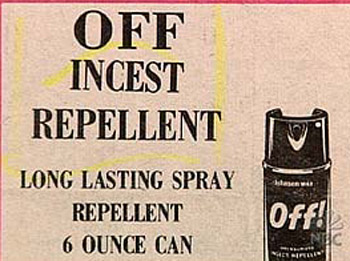classified ad offincestrepellant