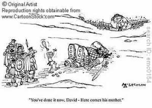 David Goliath cartoon