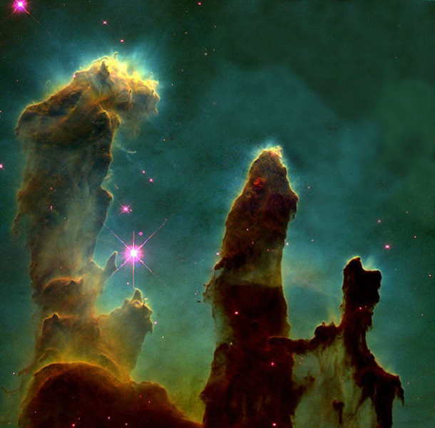 eagle nebula pillars of creation hubble