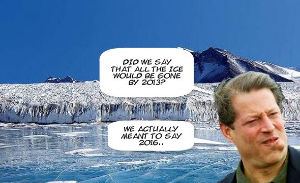Al Gore ice gone lie