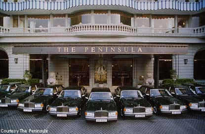 of Rolls Royces owned by The Peninsula Hotel Hong Kong