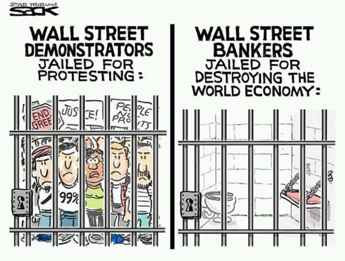 Occupy Wall Street Protesters Vs Wall Street Banksters