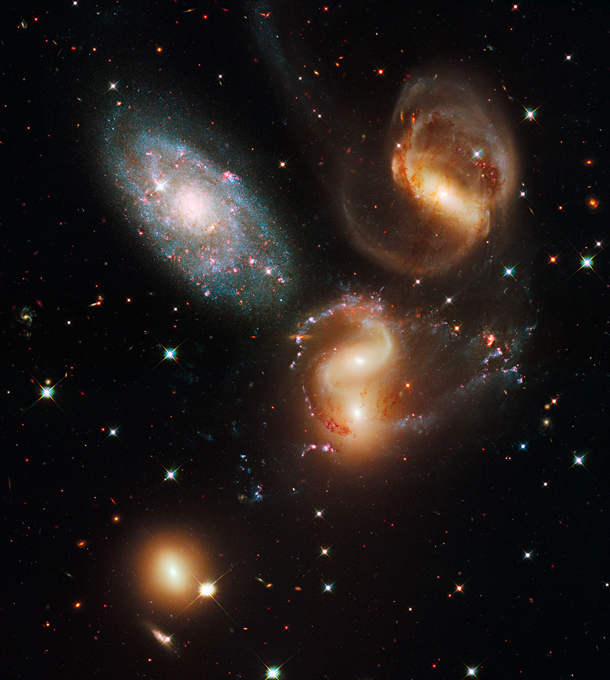 Stephan's quintet of galaxies hubble