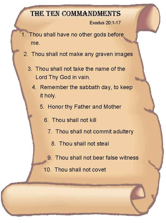 It's just an image of Revered The Ten Commandments Printable