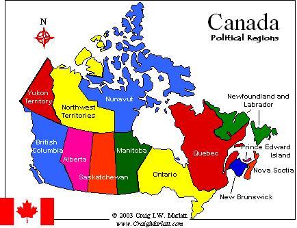 Canada political regions