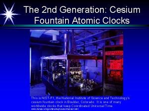 Cesium fountain atomic clock