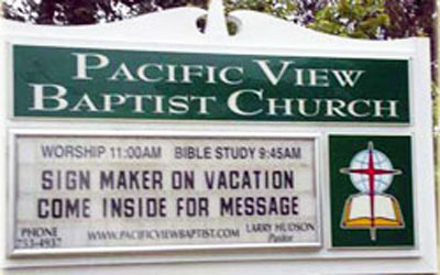 church _come inside for message