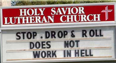 church doesnt work in hell