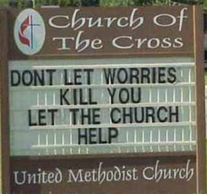 church dont let worries