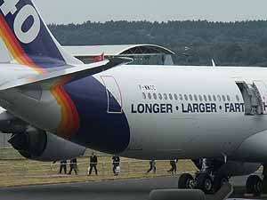 longer larger fart plane