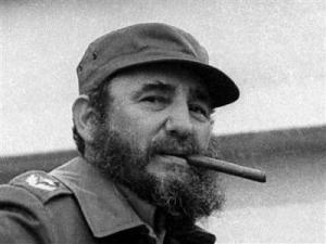Fidel Castro and cigar