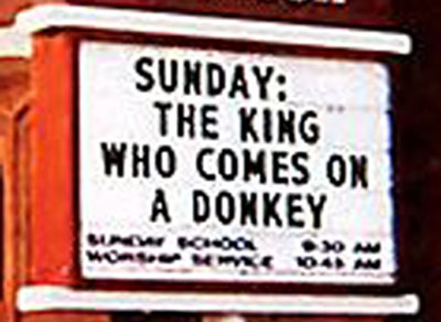 church_thekingwhoridesadonkey