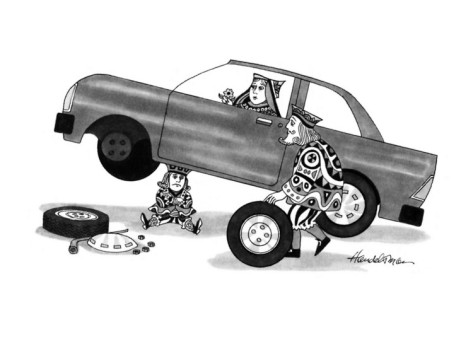 """Royalty Free Images – Tagged """"tire"""" – Clipart Cartoons By ...  Flat Tires Cartoon Hands"""