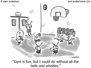 gym cartoon