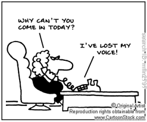 lost voice cartoon