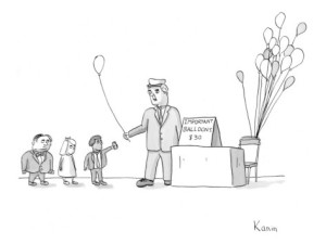 balloon seller cartoon