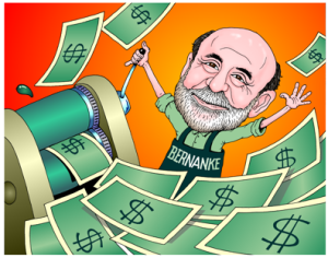 bernanke printing money cartoon