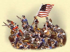 revolutionary war scene
