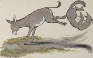 donkey-kick