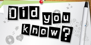did you know1