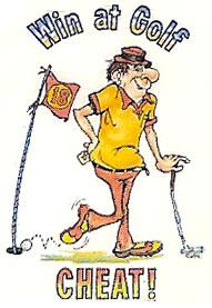 golf cheat cartoon