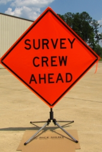 pun survey_crew_ahead_sign