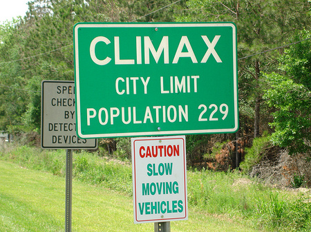 silly town names - Climax
