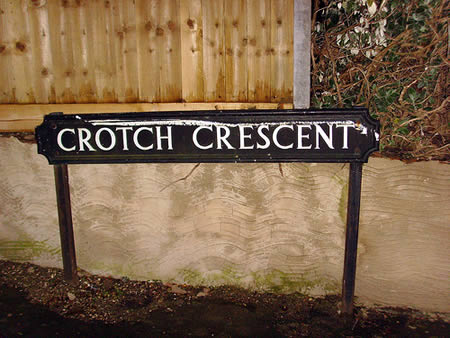 Silly place names - Crotch Crescent