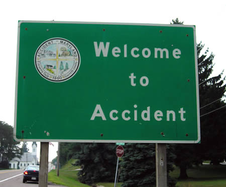 Silly place names - Accident