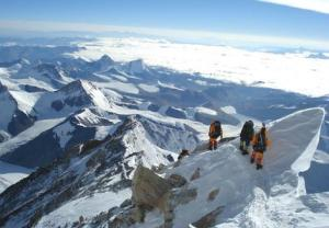 Scaling Mount Everest.