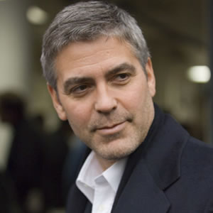 George Clooney gray-hair