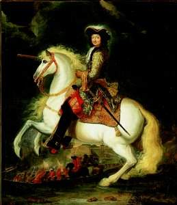 King Louis XIV on horse