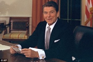 Ronald Reagan at his desk