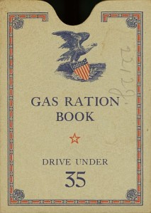 WWII gasoline rationing book