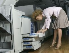 broken photocopier