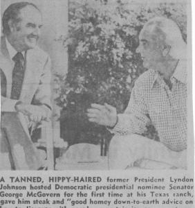 Lyndon B Johnson long hair
