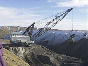 open cast coal mine