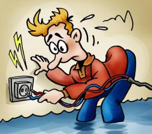 short_circuit water and electricity cartoon