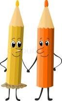 cartoon-pencils-friends