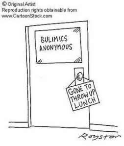 bulimia cartoon