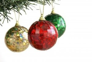 Christmas colors red green and gold